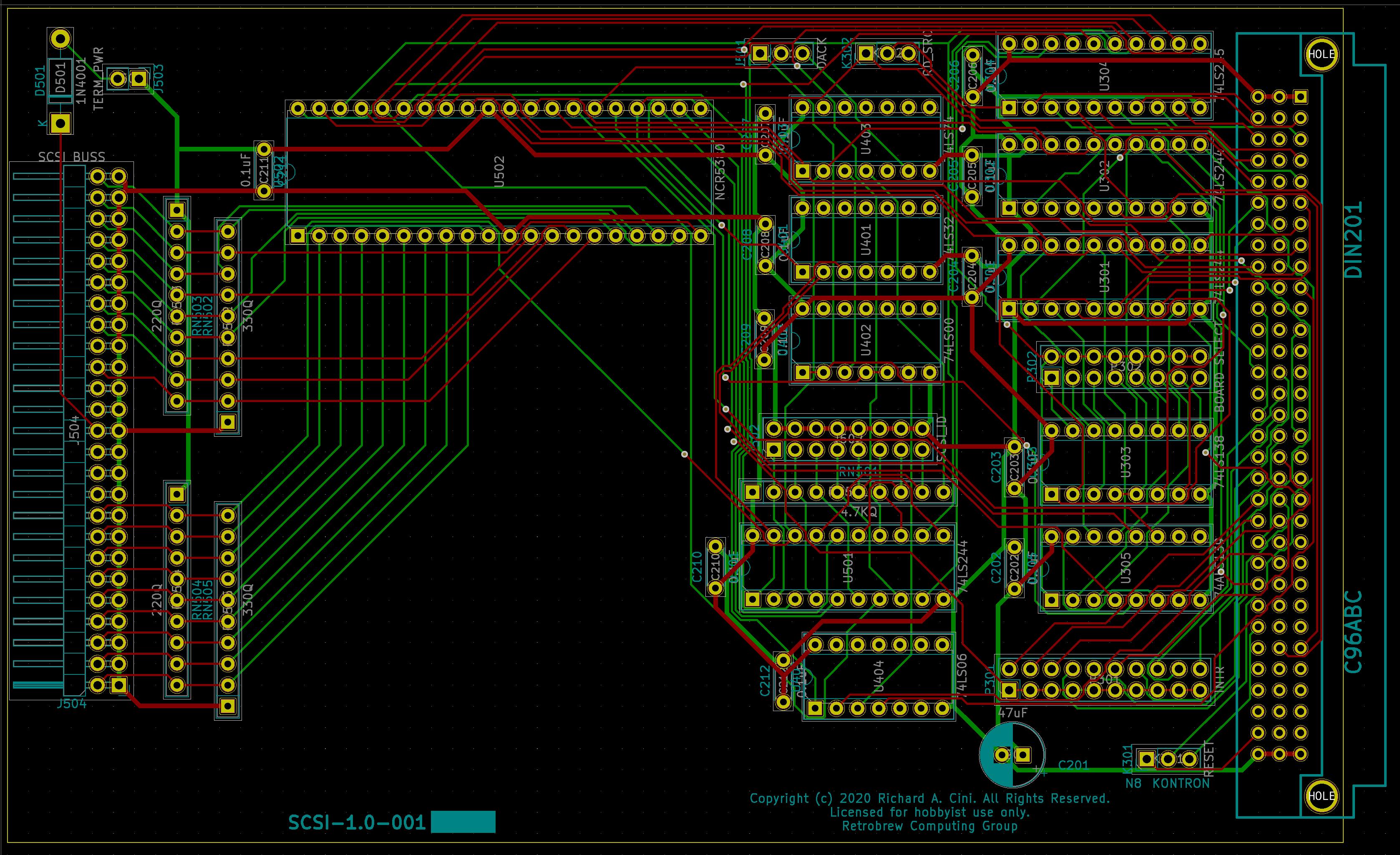Board plot of version 1.0.